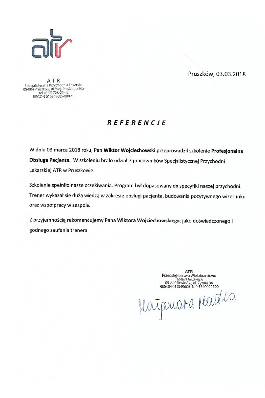 referencje atr - Atr